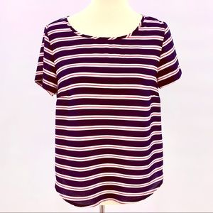 Simply Styled Petite Striped Short Sleeve Top